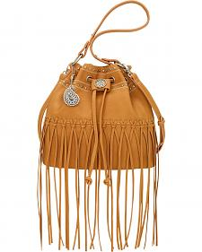 American West Bandana Tan Rio Rancho Drawstring Crossbody Bag