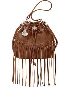 Bandana by American West Brown Rio Rancho Drawstring Crossbody Bag