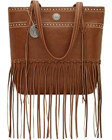 American West Bandana Rio Rancho Brown Zip Top Tote