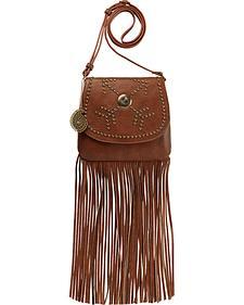 Bandana by American West Austin Brown Fringe Flap Wallet Bag