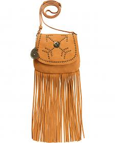 Bandana by American West Austin Tan Fringe Flap Wallet Bag