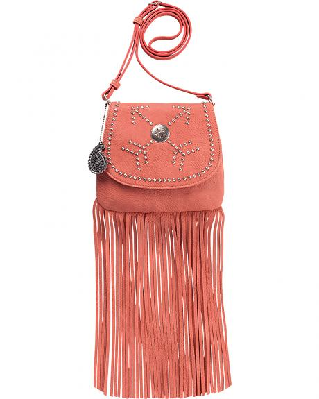 Bandana by American West Austin Peach Fringe Flap Wallet Bag