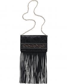 American West Bandana Black Palo Alto Folded Clutch