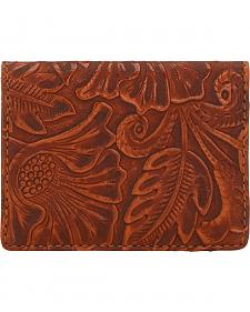 American West Bandana Orange Sun Embossed Amour Folded Snap Wallet