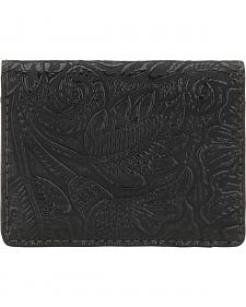 American West Bandana Black Embossed Amour Folded Snap Wallet