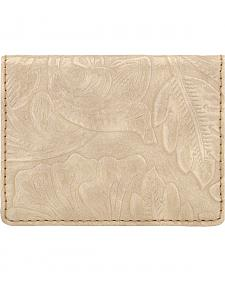 Bandana by American West Cream Embossed Amour Folded Snap Wallet
