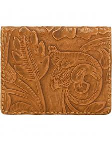 American West Bandana Tan Embossed Amour Folded Snap Wallet