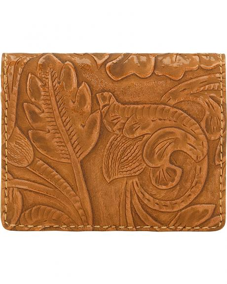 Bandana by American West Tan Embossed Amour Folded Snap Wallet