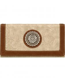 American West Bandana Dallas Cream Flap Wallet
