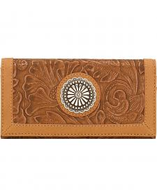 American West Bandana Dallas Tan Flap Wallet
