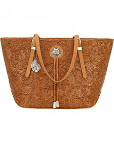 Bandana by American West Dallas Tan Zip Top Tote