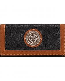American West Bandana Dallas Black Flap Wallet