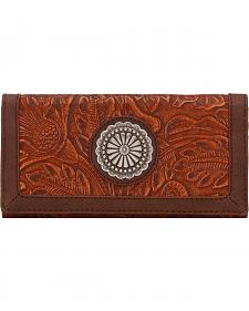 American West Bandana Dallas Orange Sun Flap Wallet