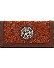 Bandana by American West Dallas Orange Sun Flap Wallet
