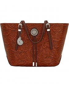 American West Bandana Dallas Orange Sun Zip Top Tote