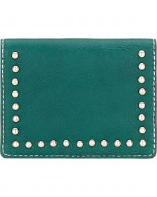 Bandana by American West Turquoise Amour Folded Snap Wallet