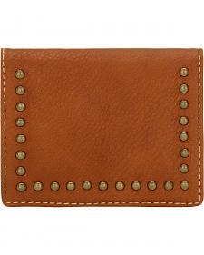 American West Bandana Tan Armour Folded Snap Wallet