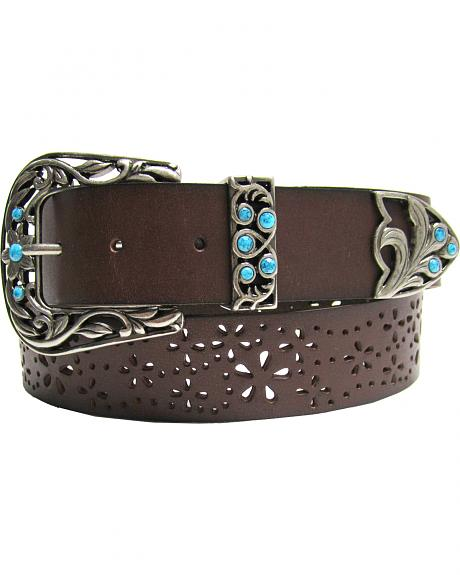 AndWest Women's Three-Piece Perforated Belt