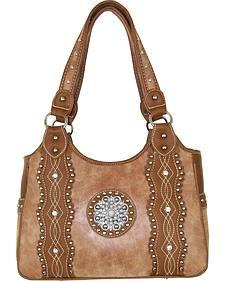 Savana Tan Silver Conco Concealed Carry Handbag