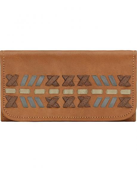 American West Mohican Melody Collection Tri-Fold Wallet