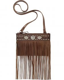 American West Saratoga Collection Fringe Crossbody Pouch