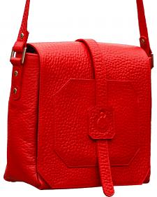 Designer Concealed Carry Red Cubic Crossbody Bag