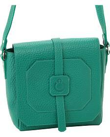 Designer Concealed Carry Green Cubic Crossbody Bag