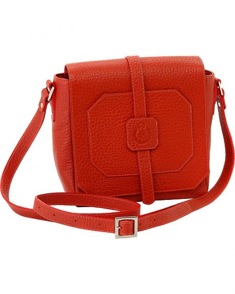 Designer Concealed Carry Burnt Orange Cubic Crossbody Bag