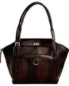 Designer Concealed Carry Brown Exotic Print Manhattan Large Shoulder Bag