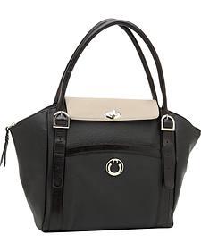 Designer Concealed Carry Two-Tone Manhattan Large Shoulder Bag