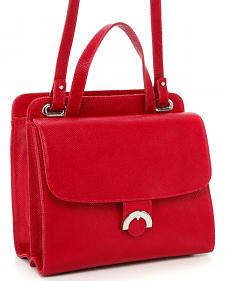 Designer Concealed Carry Red Newport Crossbody Bag