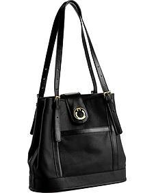 Designer Concealed Carry Black Palisade Tote Bag