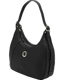 Designer Concealed Carry Black Santa Fe Hobo Bag