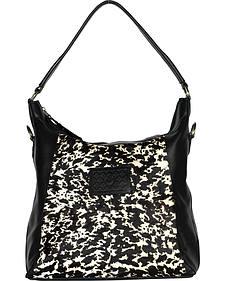 Designer Concealed Carry Black Sonoma Hobo Handbag