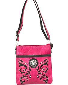 Savana Pink Crossbody Messenger Bag