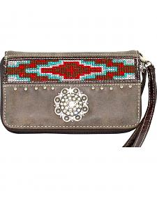 Savana Women?s Brown Aztec Medallion Wallet