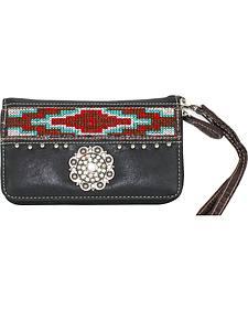 Savana Women?s Black Aztec Medallion Wallet