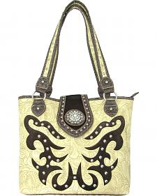 Savana Women's Concealed Carry Tote Bag with Hair-On Inlays