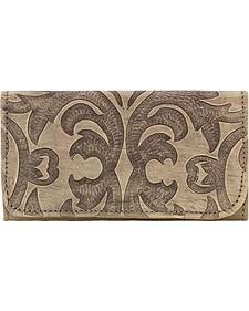 American West Sand Baroque Tri-Fold Wallet