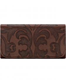 American West Chestnut Brown Baroque Tri-Fold Wallet