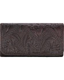 American West Women's Chocolate Annie's Secret Tri-Fold Wallet