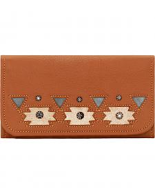 American West Women's Tan Chenoa Tri-Fold Wallet