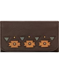 American West Women's Chocolate Chenoa Tri-Fold Wallet