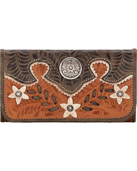 5615282 DESERT WILDFLOWER LADIES' TRI-FOLD WALLET