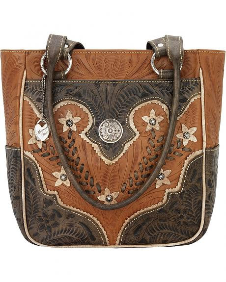 5615324 DESERT WILDFLOWER ZIP TOP TOTE WITH 3 OUTSIDE POCKETS