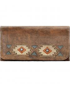 American West Women's Brown Native Sun Tri-Fold Wallet