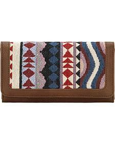 Bandana Women's Tan Tulum Flap Wallet