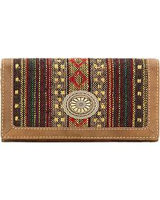 Bandana by American West Brown Serape Concho Flap Wallet