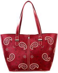 Montana West Burgundy Paisley Collection Handbag