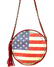 Montana West American Pride Round Shaped Shoulder Bag